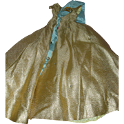 Madame Alexander Cissy Queen Doll Gold Brocade Gown 1950s