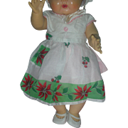 Vintage Christmas Doll Apron Rare for Dy-Dee or Tiny Tears Dolls