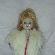 Vintage Ginger Doll with Tagged Fur Coat by Cosmopolitan