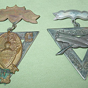 REDUCED Fraternal Order of Knights of Pythias Medals 1874 Pin Badge Civil War Peace Group