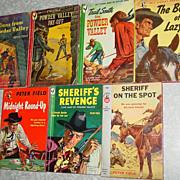 SOLD Peter Field Bantam & Pocket Books Western Cowboy Powder Valley Sheriff Round Up Lot