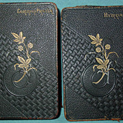 SOLD Protestant Episcopal Church Common Prayer 1882 Book & Hymnal 1884 Miniature Pocket