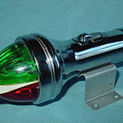 SOLD Boat Light Flashlight Divided Green & Red Lens Safety Nautical Maritime Fishing Made