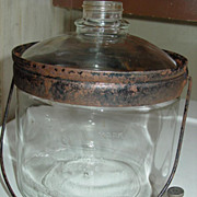 REDUCED Perfection Stove Co Glass Kerosene Bottle Jug Jar Oil Heater Dispensing Cooking ...