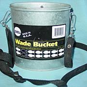 Frabill Wade Bucket Fishing Minnow Worm Bait 2.5 Quart Model 1062 Galvanized U.S.A.