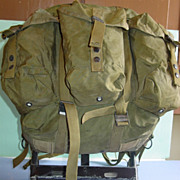 REDUCED Military Alice Field Back Pack Medium  Rucksack with Frame OD Nylon Camping 1976