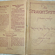 REDUCED Edward B. Straight Modern Method The Natural way to Play Drums Drumming 1923 Lesson ..