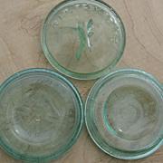 SOLD Howe Scranton Pa Green Glass 1888 Mason Improved Maltese Cross Aqua Canning Jar Lids