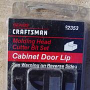 REDUCED Craftsman 9-2353 Cabinet Door Lip Cutter Molding Bit Head Set Radial Table Saw