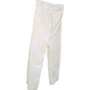 REDUCED Military WWII Navy Sailor Pants White Button Fly Front Trousers Bell Bottoms 28X28