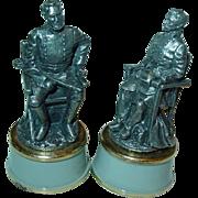 Franklin Mint Civil War Chess General Stonewall Jackson Beauregard Set Pewter Bishop Pieces