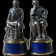 Franklin Mint Civil War Chess General William Tecumseh Sherman & Meade Pewter Bishop