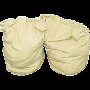 Military Barracks Bag WWII Khaki with Heavy Draw Cord Laundry 1942 Army Issue