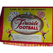 REDUCED Fireside Football Board Game Playing Cards Spinner Dice Darts Rochester 1947 as is
