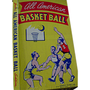REDUCED Basketball All American Basket Ball Board Game Corey 1941 WWII Era Jr. Edition as is