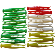SOLD Kordite Hard Plastic Clothespins Laundry Drying Clothes Pins Green White Yellow Red