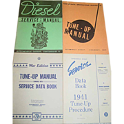 REDUCED Tune-Up Manual Combined with Service Data Book War Edition Automotive Digest WWII Book