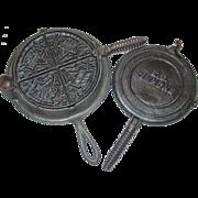 REDUCED Keen Kutter E.C. Simmons Waffle Iron Cast Iron #8 Wood Coal Stove Hardware ...