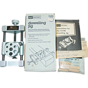 REDUCED Sears Craftsman Dowling Jig 9-4186 Rotating Turret Woodworking Dowl Tool Warranty