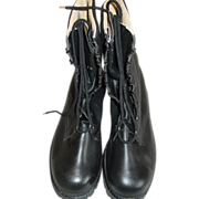 REDUCED Military Style Boots West Germany Black Leather German Pair Size 11