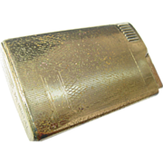 REDUCED Mastercraft Musical Cigarette Lighter Japan Gold Colored Brass Case as is