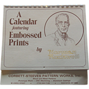 "SOLD Norman Rockwell Old Timers Embossed 4 Print Set 1983 Calendar Art 7-1/2"" by 10"""