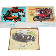 REDUCED Classic Cars Workhorses of Yesterday Trucks Calendar Prints 1983 1986 1988 Pictures