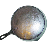 REDUCED Wagner Sidney -O- Skillet No. 8 Dot Cast Iron Fire Heat Ring Frying Pan ...