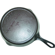 SOLD Victor Skillet No. 8 Cast Iron 722 C Fire Heat Ring Frying Pan Cookware ...