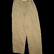 REDUCED Military Vietnam War Era Trousers Men's Cotton Size 29X29 Uniform Pants