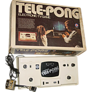 SOLD Tele Pong Electronic TV Game Entex B&W Television Tennis No.3047 Video Box Toy