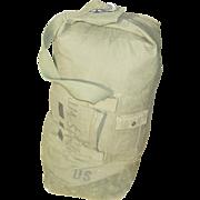 REDUCED Military Bag Duffel Vietnam War Cotton Duck Duffle 1969 Army USMC Sea Air Force Issue