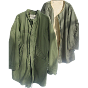 REDUCED Parka Fishtail Korean War Med. Liner Vietnam 1975 Large Shell Extreme Cold Weather M-6