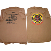 REDUCED Military Tee Shirts TOW Tank Killers Co.1/108 Ithaca Army National Guard Death on a Wi