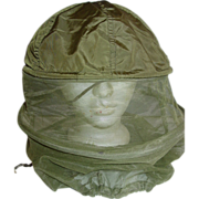 Military Helmet Insect Head Net Mosquito Bug Bee Repellent Mesh Hunting Fishing OD