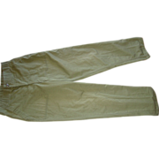 Military Trousers Utility 32X33 Dura Press OG-507 Olive Drab OD Fatigue Pants 1983