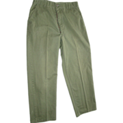 Military Fatigue Pants Trousers Utility 31X28 Dura Press OG-507 Olive Drab OD 1987