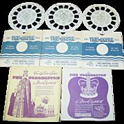 The Coronation Of Queen Elizabeth II Sawyer's View Master 1953 Reel 405 406 407 Set