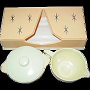 REDUCED Lustro Ware Pink Starburst Tissue Box Sugar Bowl Creamer Columbus Ohio Plastic