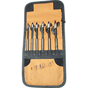Ridgid Drill Bit Set Wood Auger Power Tool in Cloth Case 6 Piece needs sharpening ...