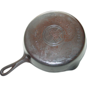Griswold No. 8 Cast Iron Skillet 704 Z Smooth Bottom Frying Pan Cookware Block Logo