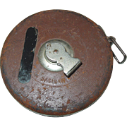 The Lufkin Rule Metallic Measuring Tape 50 Ft. Leather Case Saginaw Michigan Ruler