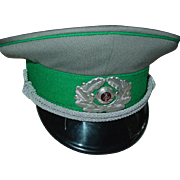 Military East German Visor Cap DDR Border Guard Army Officer 1989 Size 57 NVA Hat
