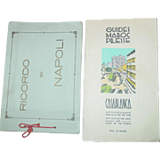 Casablanca Morocco Guide Ricordo Di Napoli Italy Photograph Book WWII Souvenir