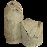 Military Bag WWII Duffel Vietnam War Cotton Duck Duffle 1967 Waterproof Clothing Class 3
