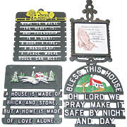 Home Religious Trivet Cast Aluminum & Iron Wall Hanging Bless This House