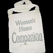 Newspaper Boy Canvas Bag Womans Home Companion the American Magazine