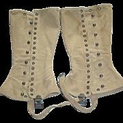 Military WWII Leggings Gaiters Pair Spats Leggings M1938 Army Boot Set