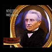 SOLD Mathieu Deroche: Portrait Miniature Winner Grand Prix 1900