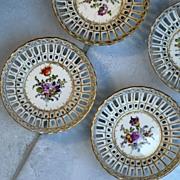 Set of Four Antique Dresden Nut Dishes Helena Wolfsohn